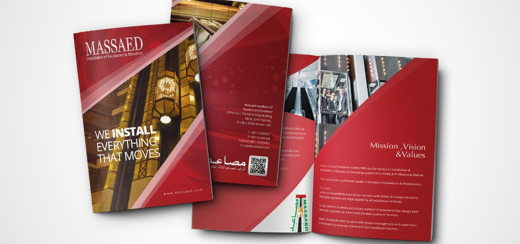 brochure design dubai portfolio