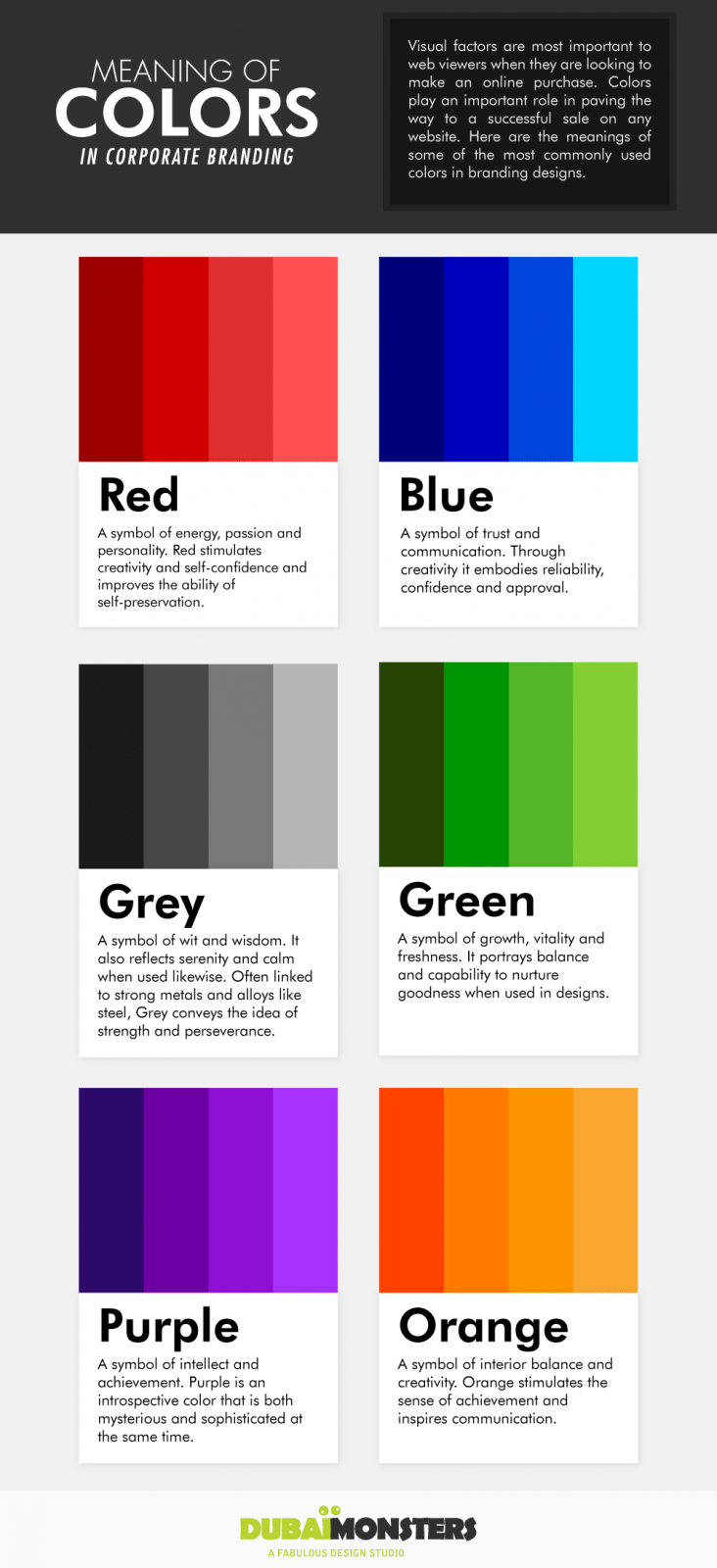 Meaning Of Colors In Corporate Branding
