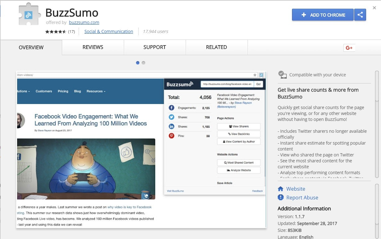 Buzzsumo top 10 google chrome extensions - Dubaimonsters