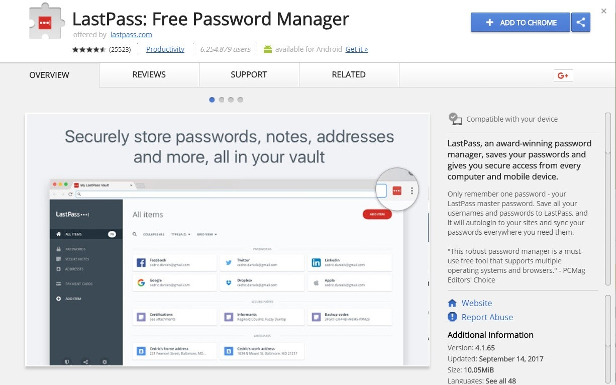 Lastpass - top 10 google chrome extensions - Dubaimonsters