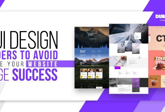 UI Design Blunders